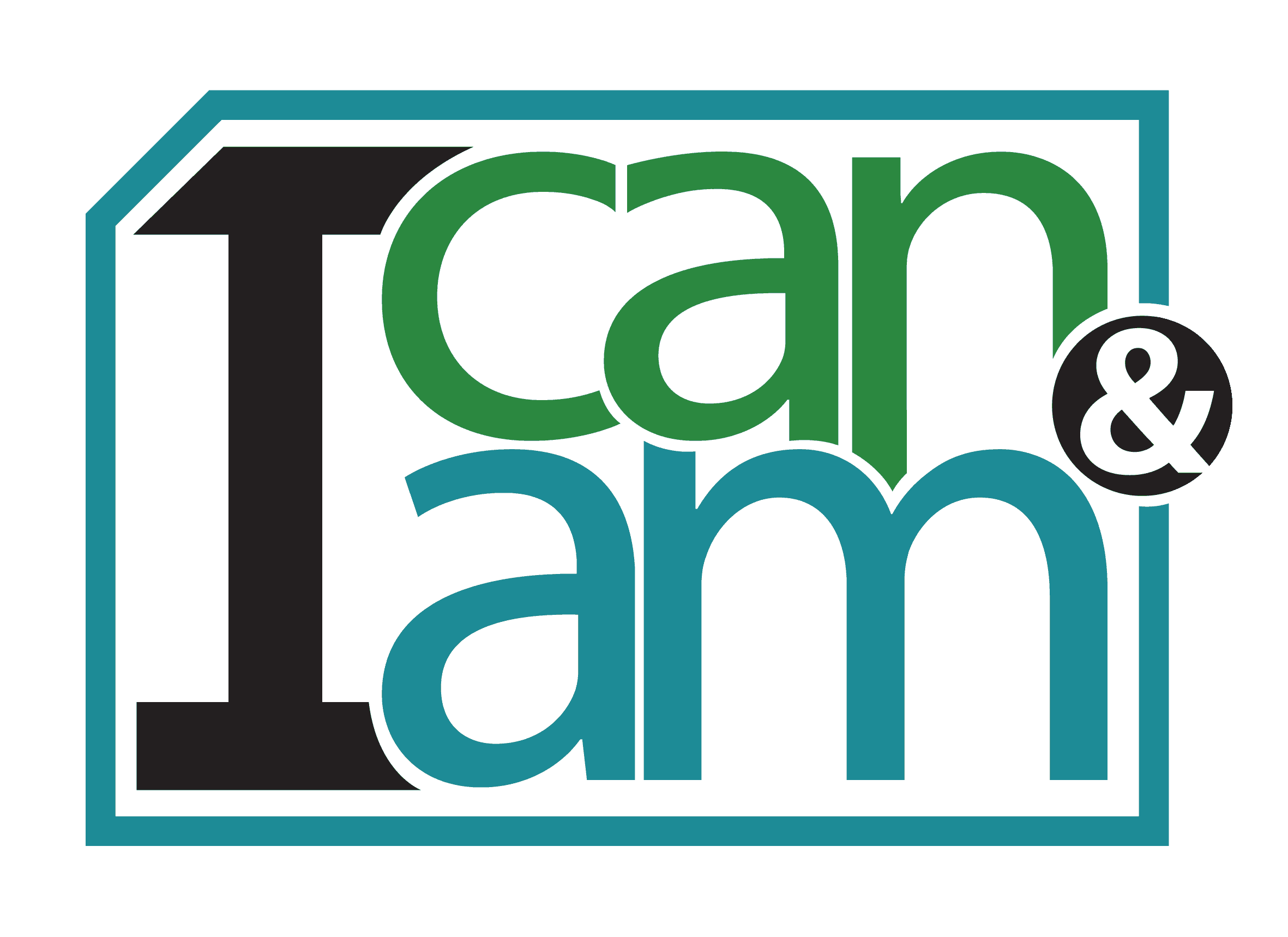 i can and i am logo
